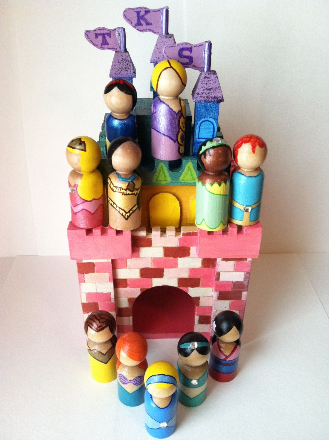 Princess Collection Peg Dolls - The Whimsical Sweet Etsy Shop