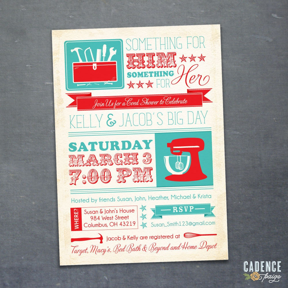 Items Similar To Couples Shower Invitation Kitchen Shower His Hers Shower Printable On Etsy