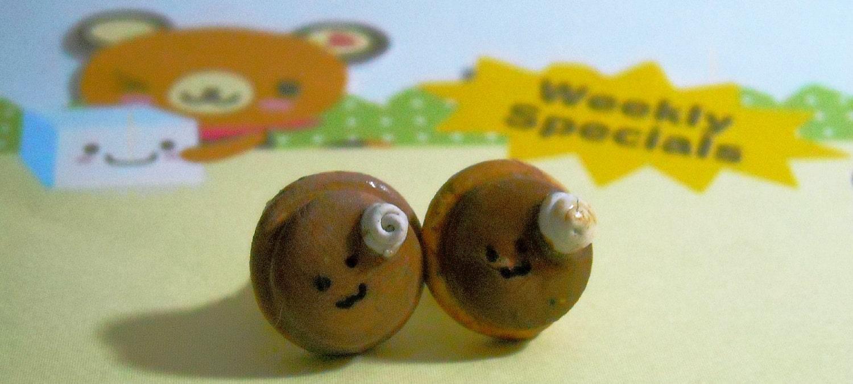 Kawaii Pancake Post Earrings