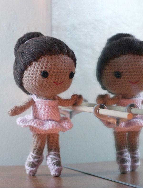 Amigurumi Ballerina Pattern : Crochet Pattern Brisa the ballerina amigurumi doll door ...