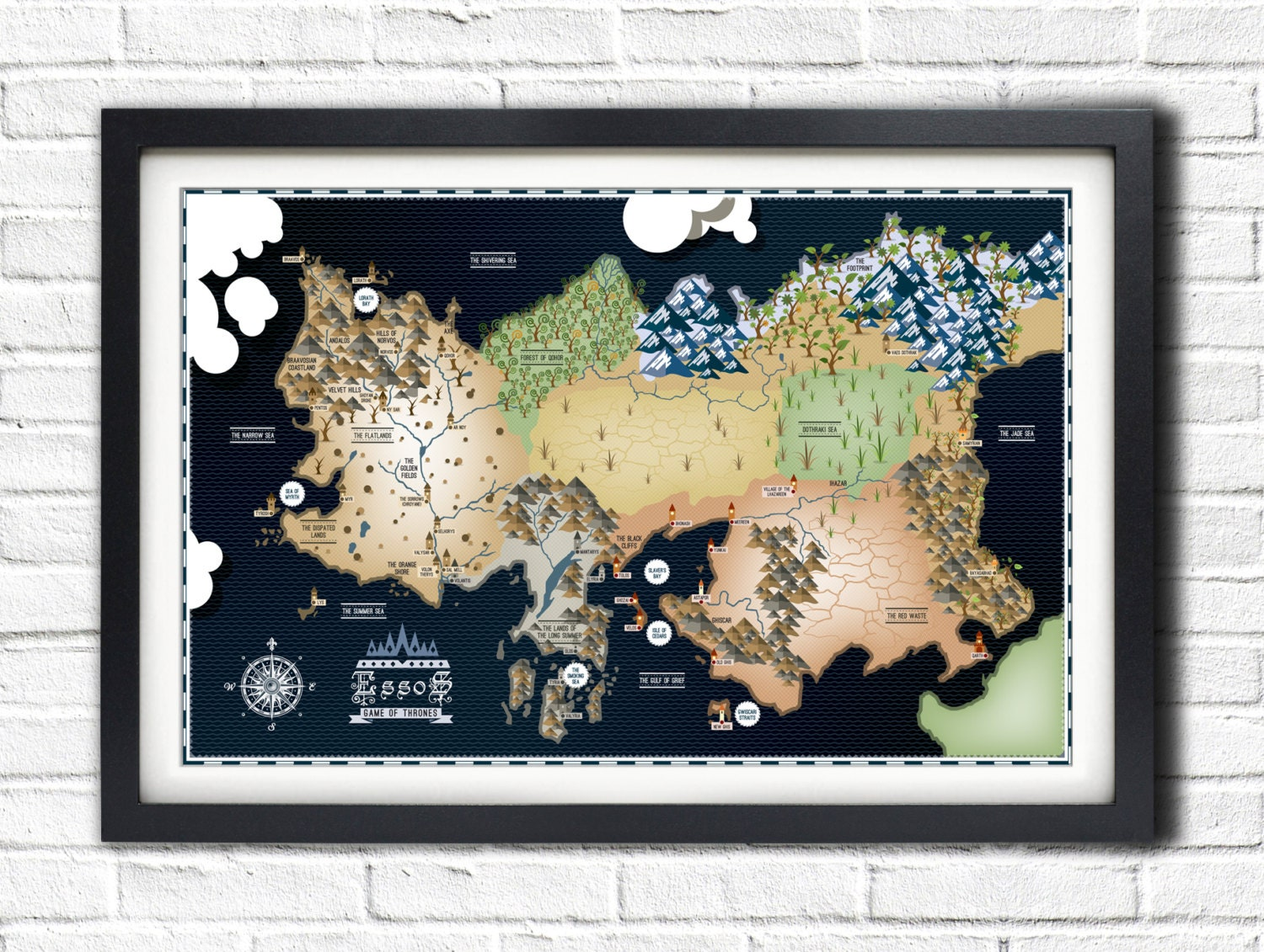 game of thrones map poster-#23