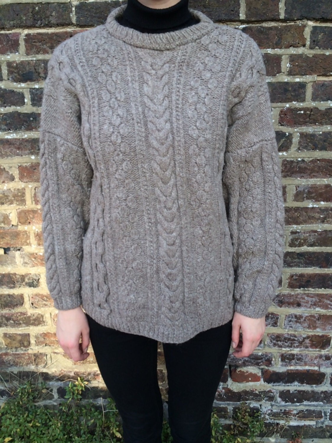 Vintage Aran Knit Jumper Medium