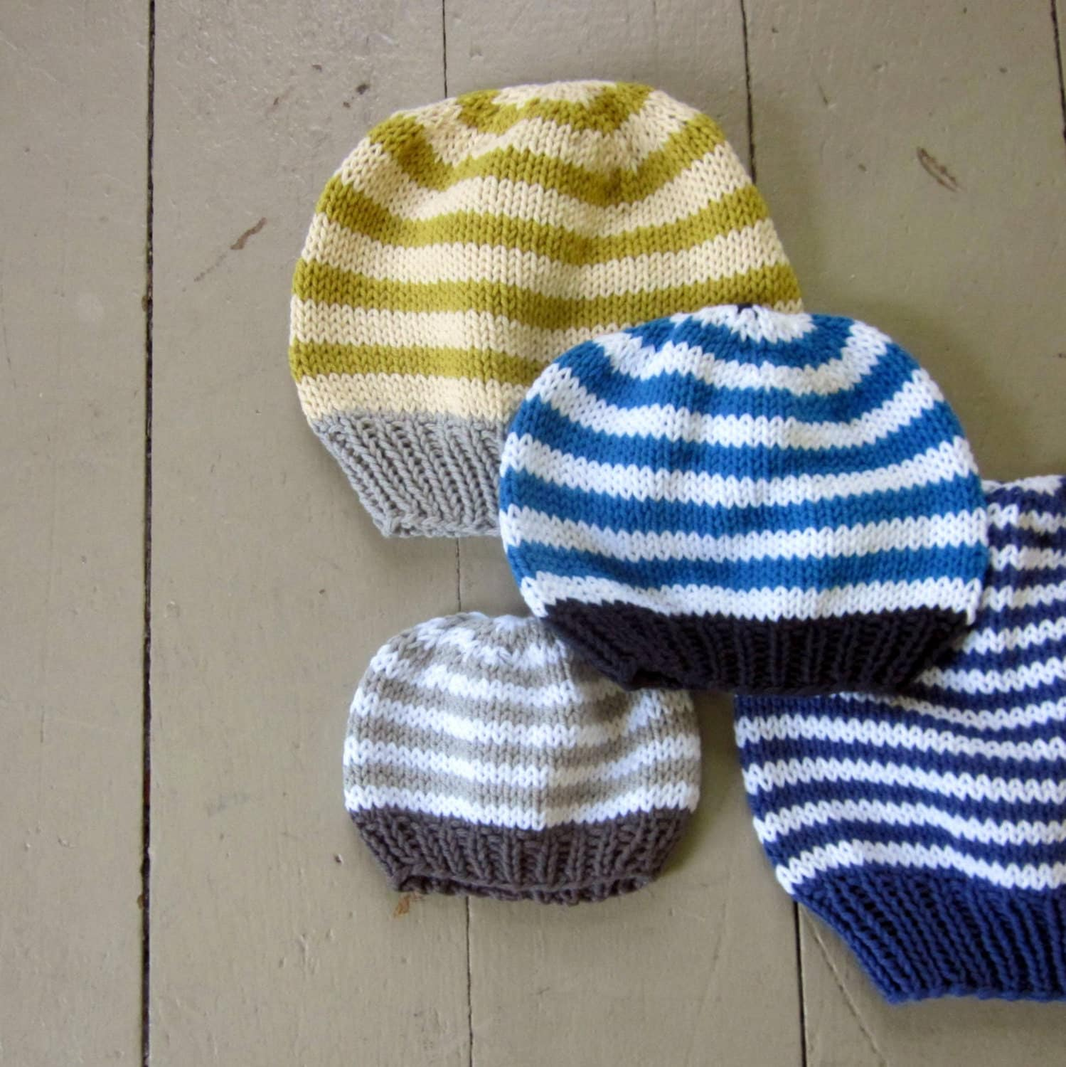 Knitted Baby Beanies Patterns : Baby Hat Knitting Pattern basic beanie PDF by sweetbabydolly