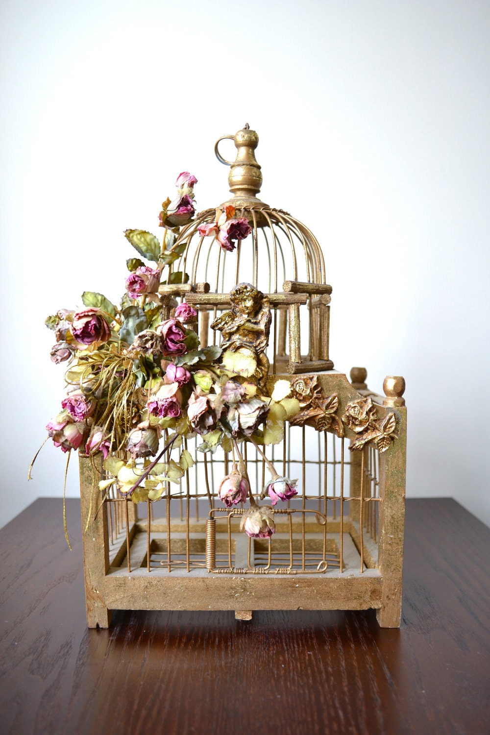Architectural metal bird cage decorative by for Antique style decoration