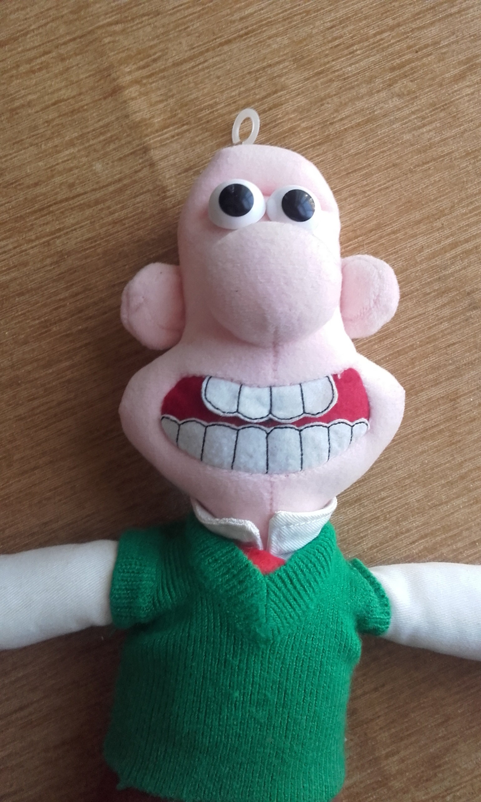Wallace and Gromit Vintage Wallace Stuffed Cuddly Soft Toy. 1989. Made by Born to Play TM. Plush Clean Condition.