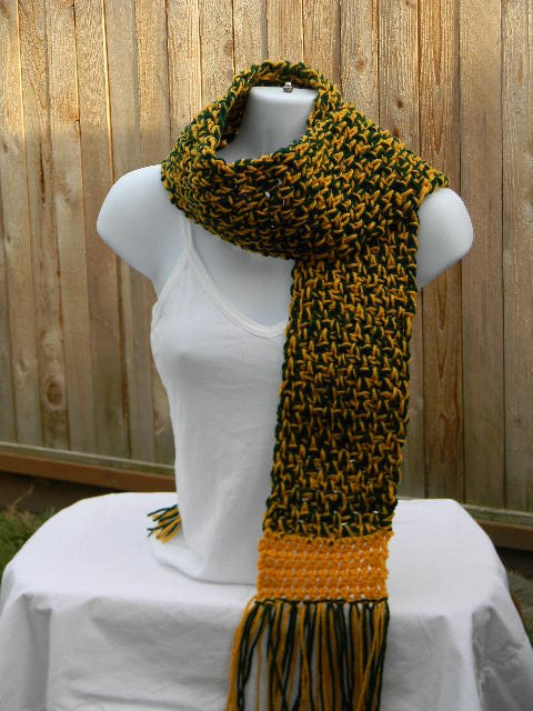 team spirit scarf green and gold scarf oregon by