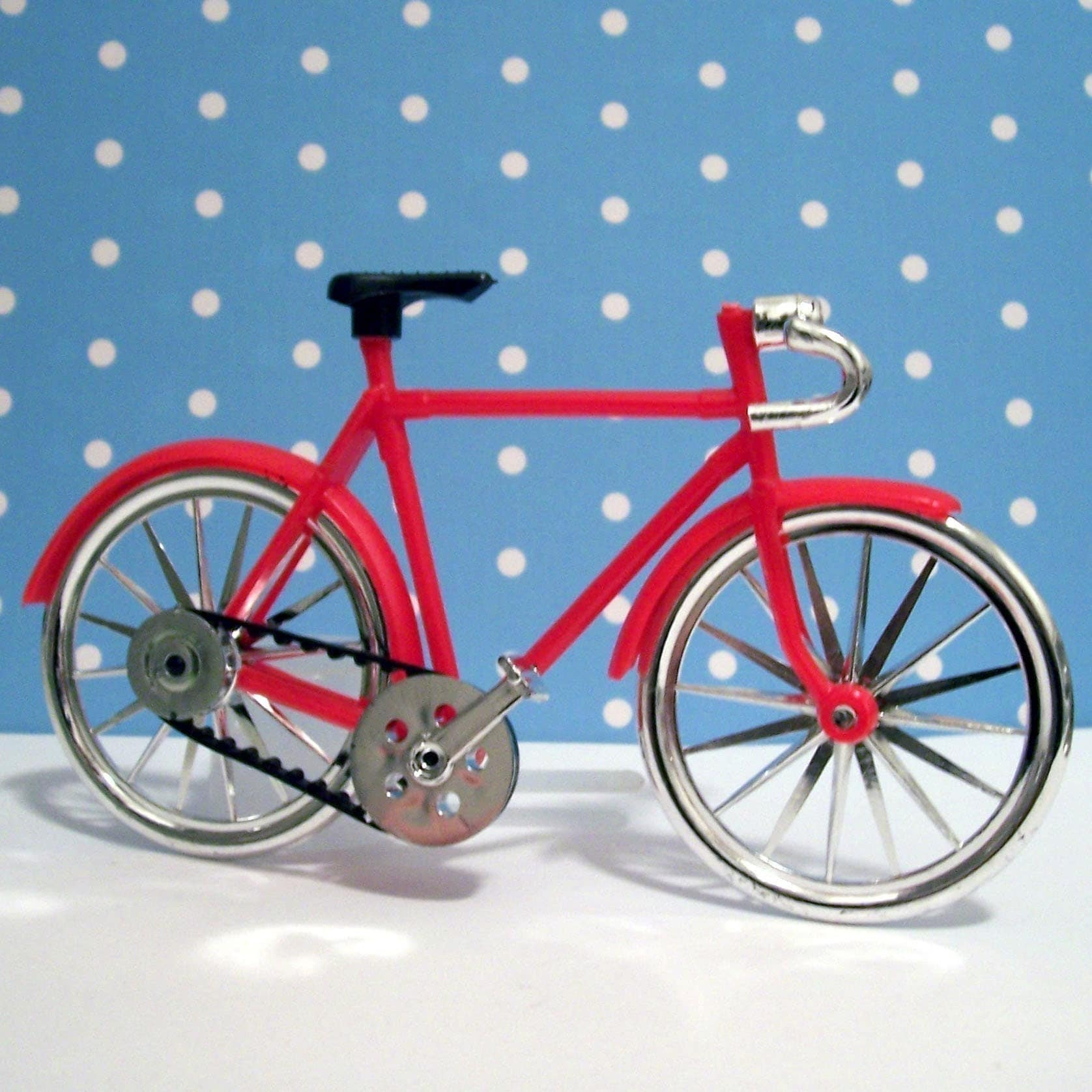 Bike Decoration For Cake : Red Bicycle Cake Topper by LulusCupcakeBoutique on Etsy