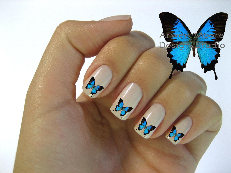 Дизайн маникюра с бабочками