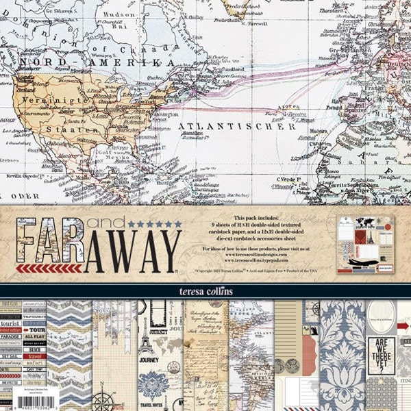 Teresa Collins Far & Away Collection Pack,  TEFA1032