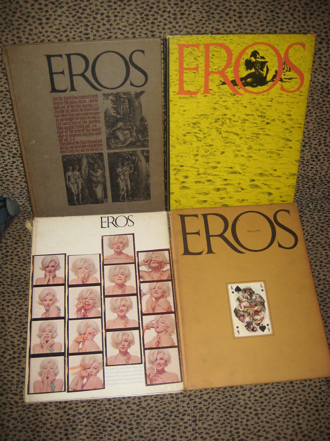 Eros Complete Set 1962 Hardcover Magazines by Ralph Ginzburg