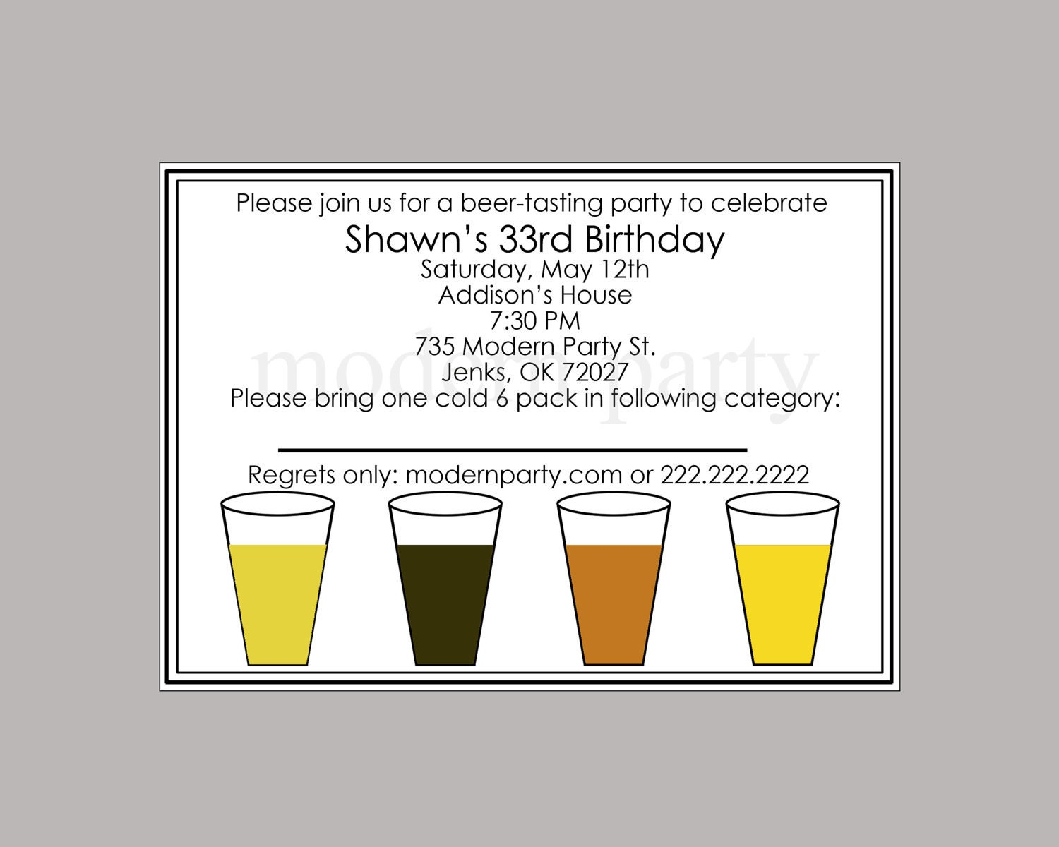 Beer Tasting Party Invitations Images