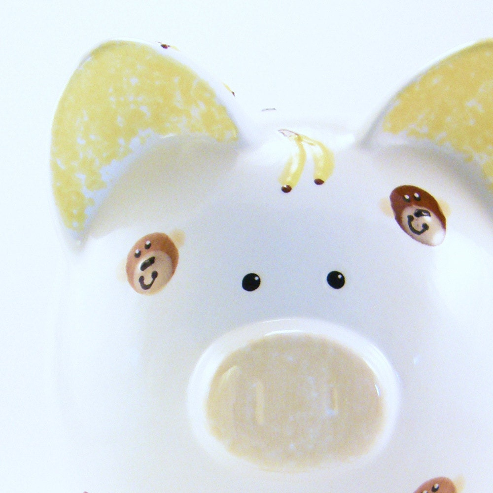 Painted Piggy Bank Faces
