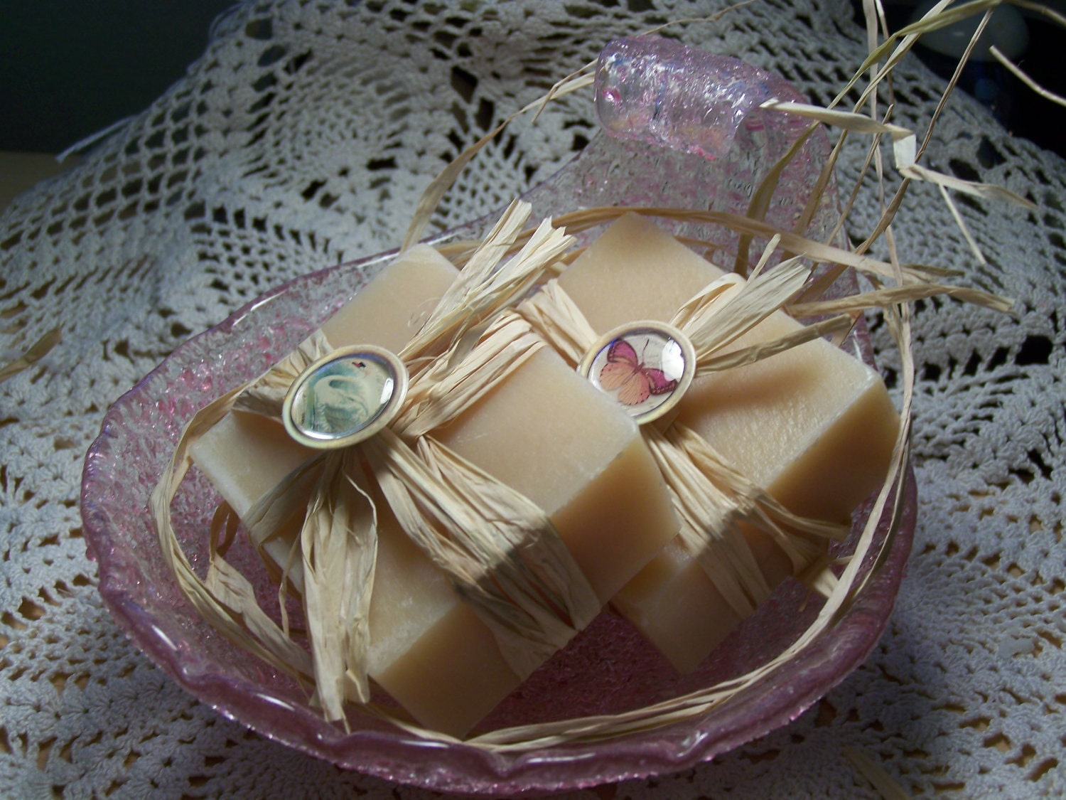 SALE - White tea bamboo soaps - gift set   Shea butter, organic,  handmade soap - reg price 18.00 - CountryChicSoaps