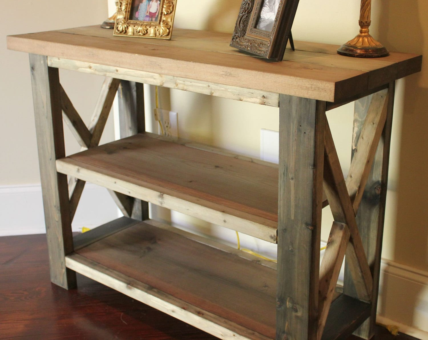Items similar to 4 Foot Handcrafted Farmhouse Console Sofa Table Solid Wo