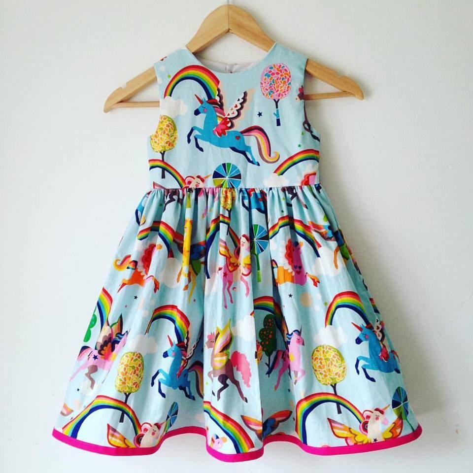 magical unicorn girls unicorns dress rainbows and unicorns girls handmade dress kids clothes girls dresses toddler babies dress baby
