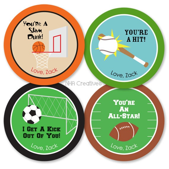 diy soccer valentines day cards personalized sports valentine s day tags soccer by