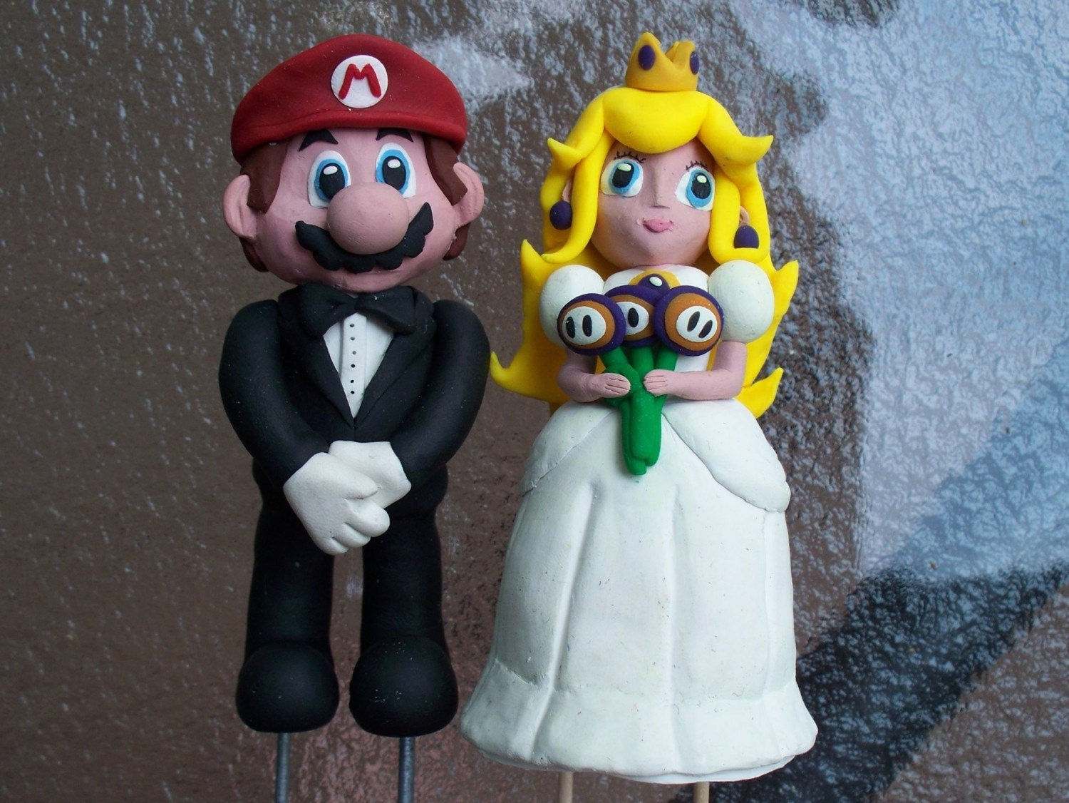 Mario Wedding Cake Topper By Capnawesome On Etsy