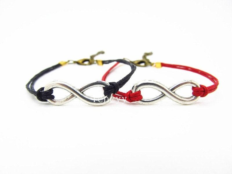 items similar to couples bracelets infinity bracelet