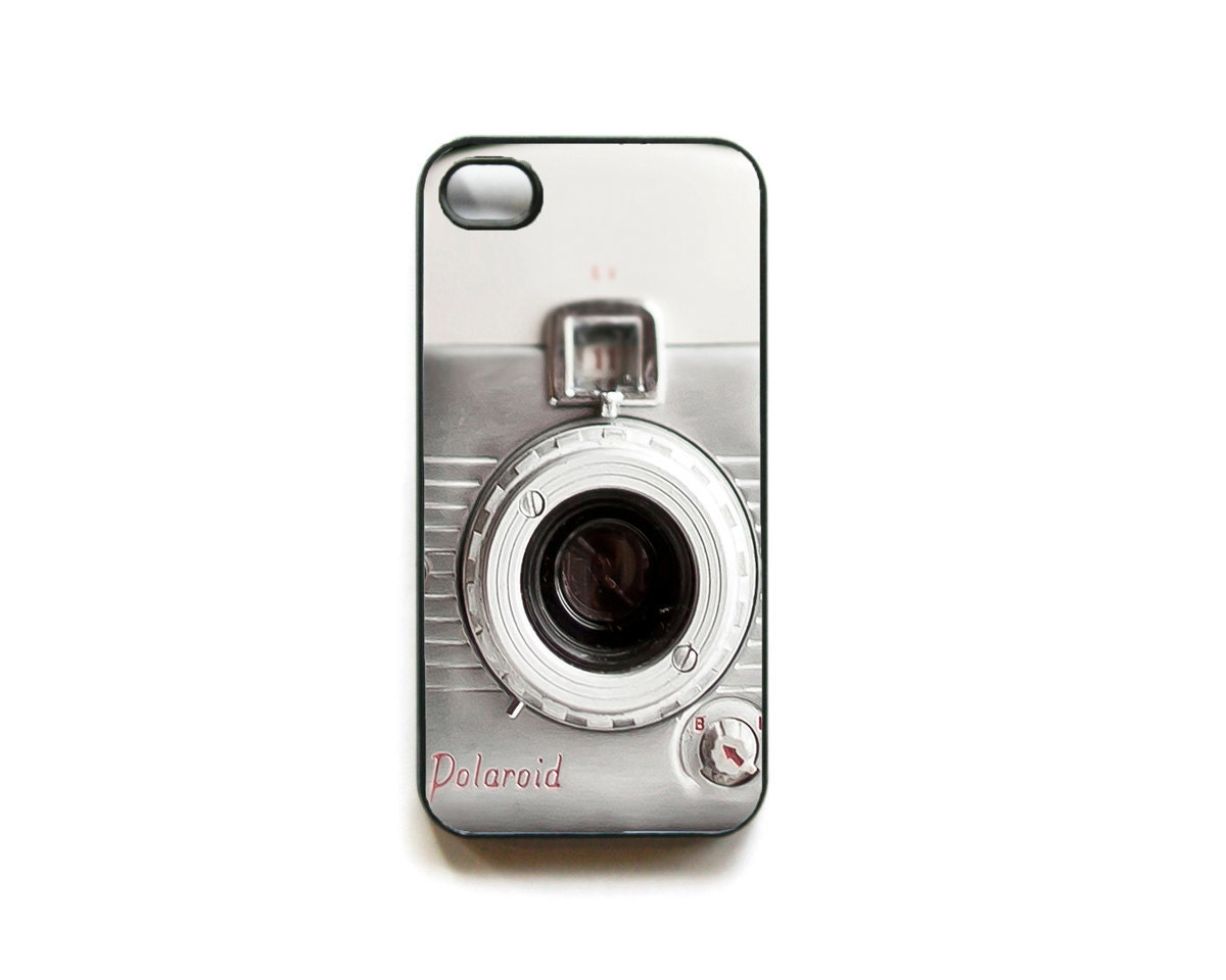 iPhone 4 case - Retro Hipster Polaroid camera iPhone case - unique accessory for iPhone 4 and 4s cell phone retro (In STOCK) - Raceytay
