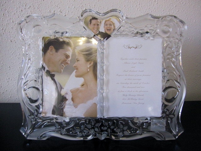 SALECrystal Wedding Picture Invitation Frame By TheCottageWay