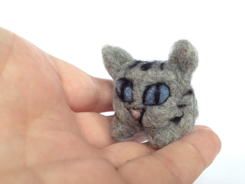 Amigurumi Tabby Cat : Items similar to Needle Felted Cat, Cute Felt Tabby Cat ...