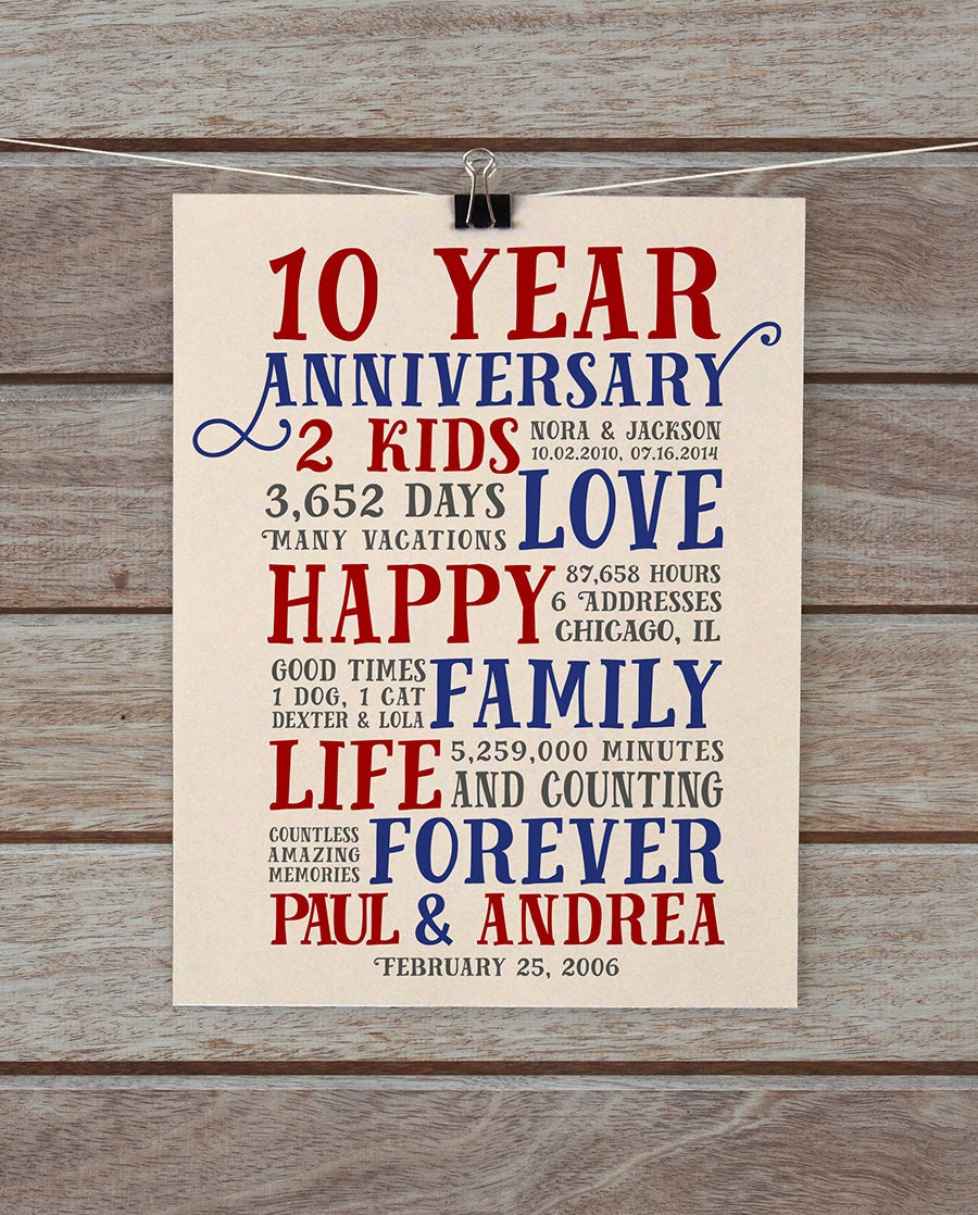 10 Year Wedding Gift For Husband : Wondrous Gift Ideas For Husband 5 Year Anniversary Valentine Love ...