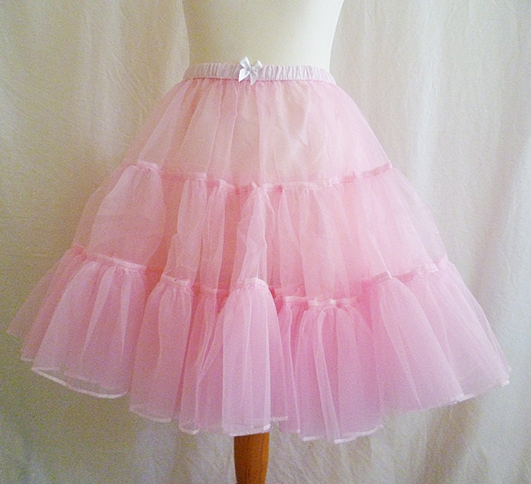 Crinoline UnderskirtFluffy Petticoat Pink Womens All Sizes ROOBY LAnE