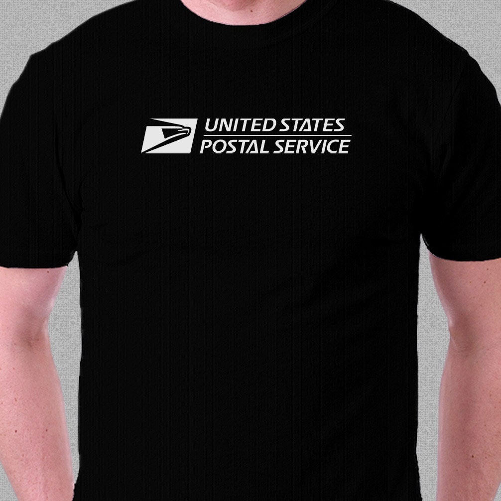 Items similar to usps united states postal service logo t for Usps t shirt shipping