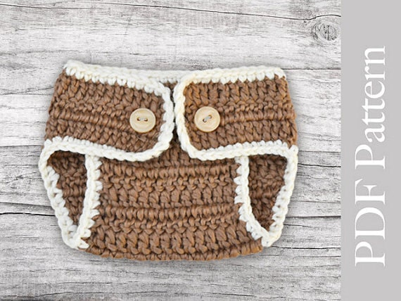 Crochet Pattern Central Diaper Cover : Crochet Diaper Cover Basic Size Newborn PDF Pattern