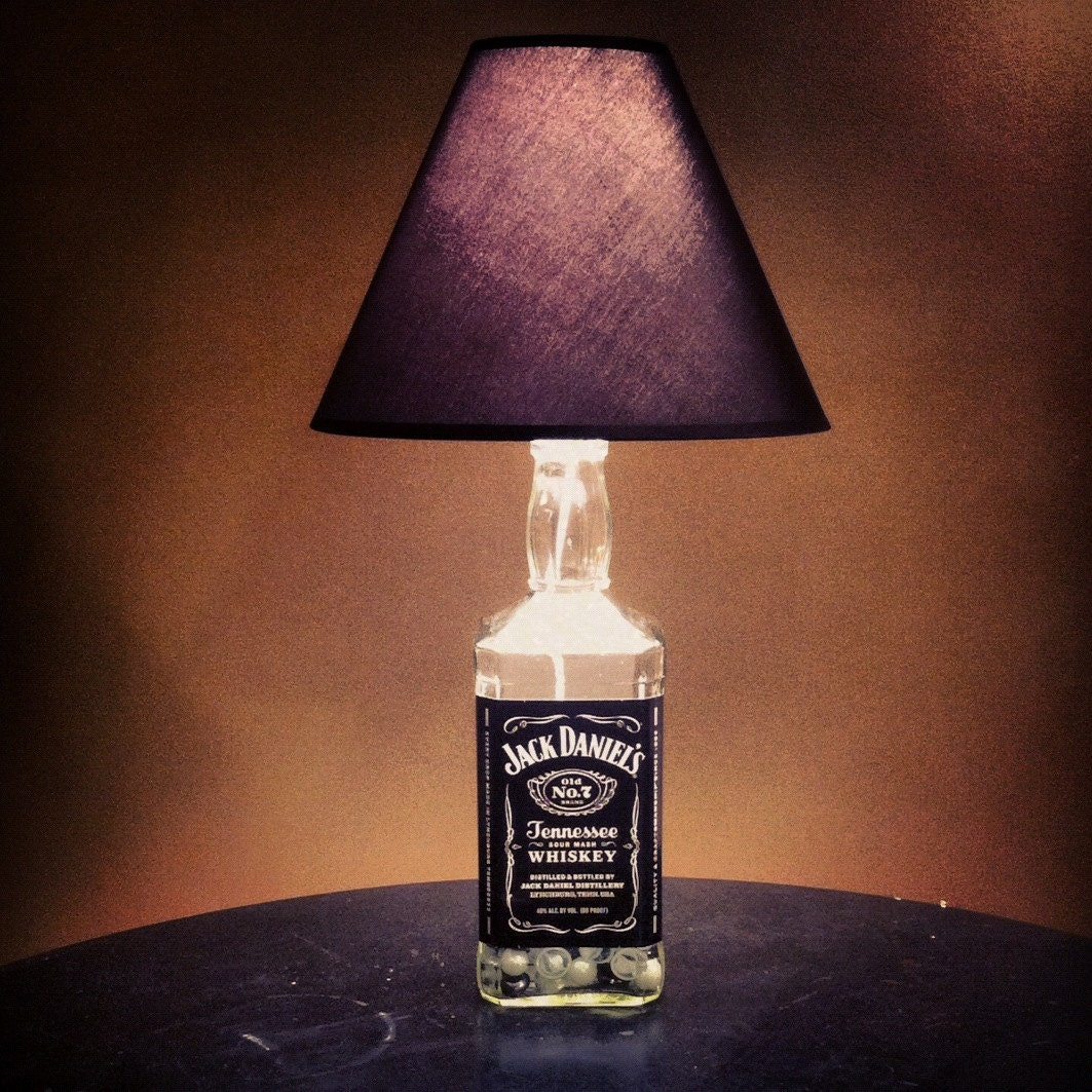 Recycled Half Gallon Liquor Bottle Lamp By Lovelylilvintage