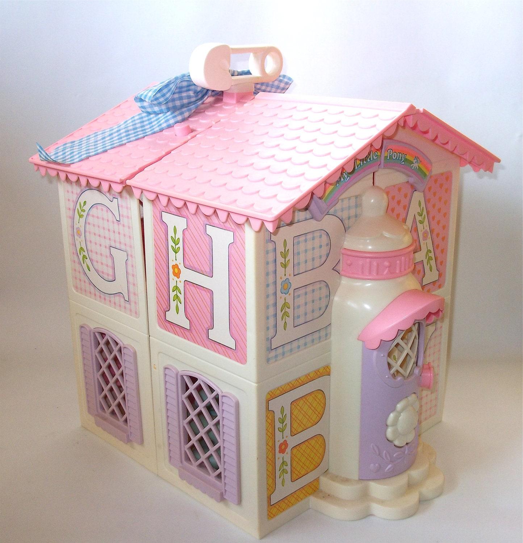 Vintage My Little Pony Lullaby Nursery House 1985 By