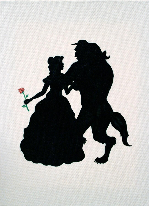 Items Similar To Disney Princess Inspired Silhouette