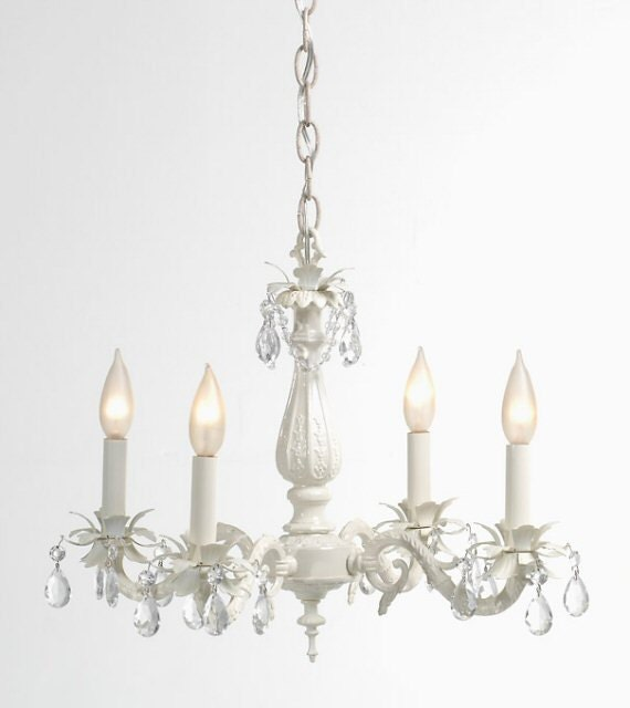 Ivory White Cottage Lighting Chandelier Shabby Chic By Lightlady