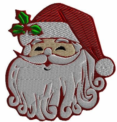 santa claus machine embroidery design christmas by craftyjacky