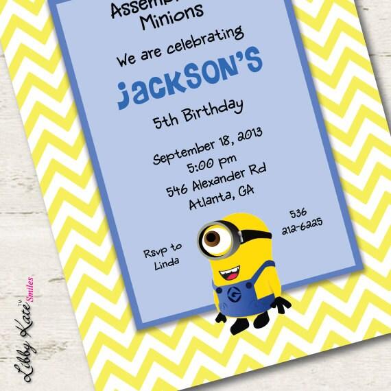 Minions Baby Shower Invitations as nice invitation example