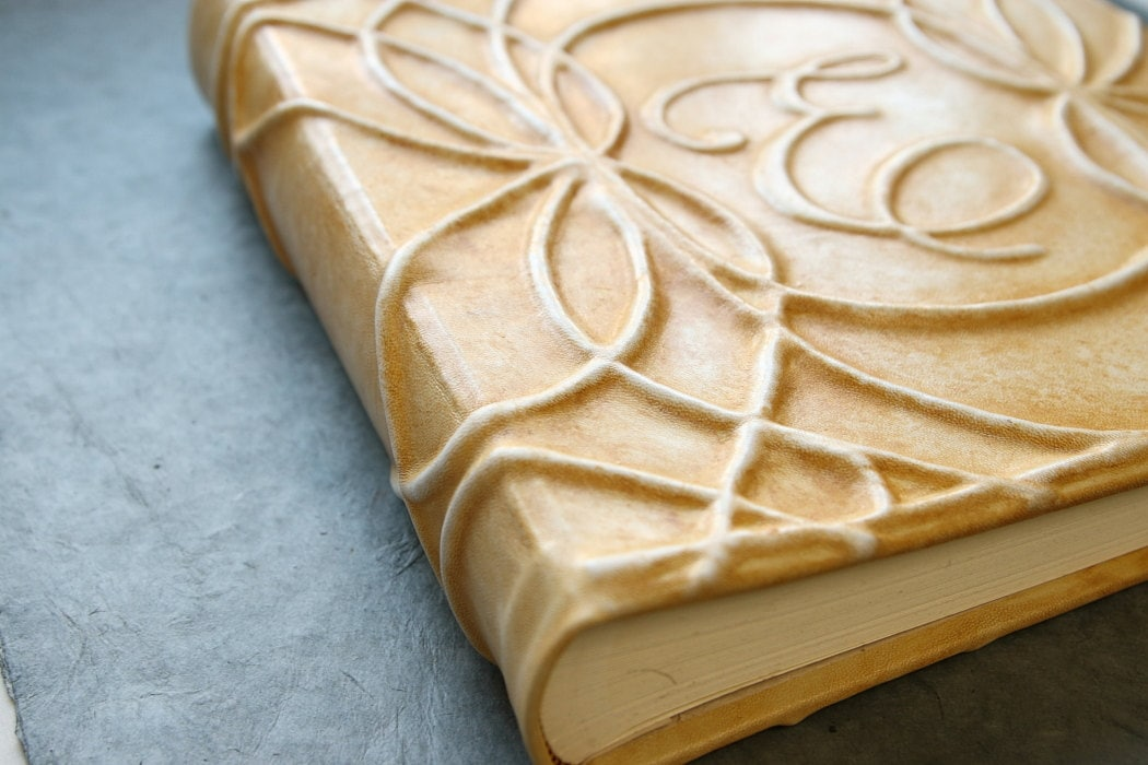 How To Make A Leather Book Cover : The gallery for gt how to make a leather book cover