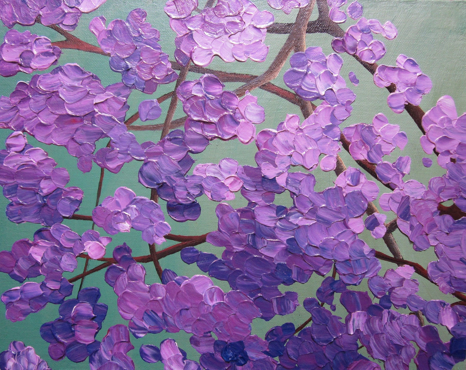flowering tree painting acrylic abstract by PaintingsByKEGilmore