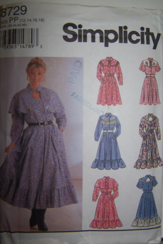 womens western dress pattern vintage by melancholyjunebug