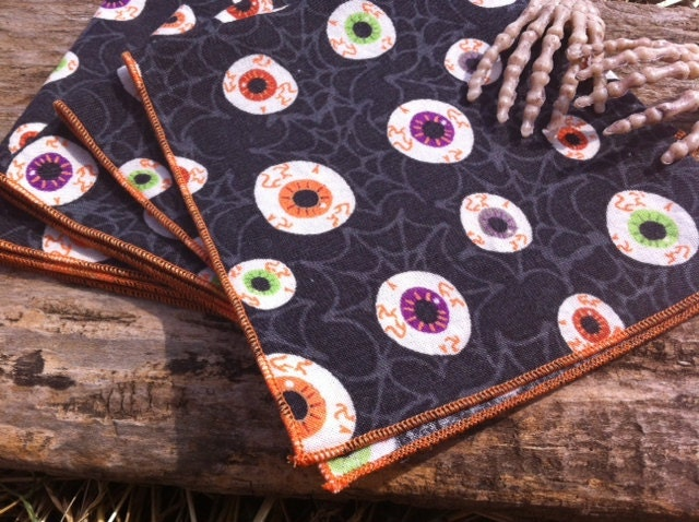 Unavailable listing on etsy for Halloween cloth napkins