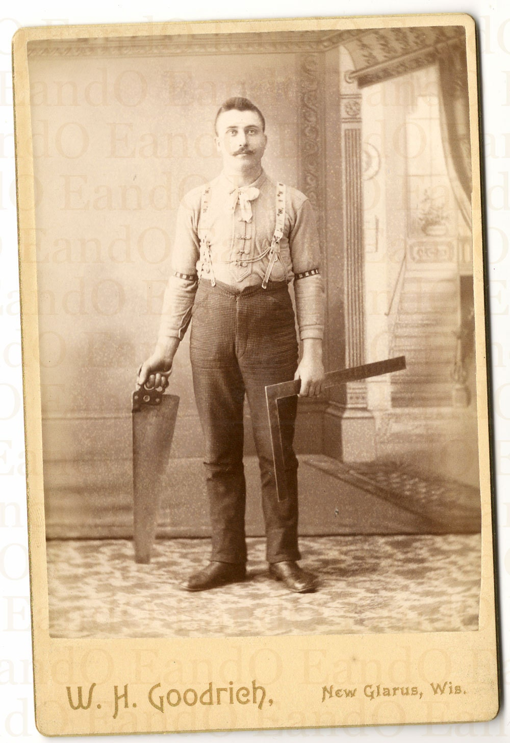 Items Similar To Rare Antique Cabinet Card Occupational