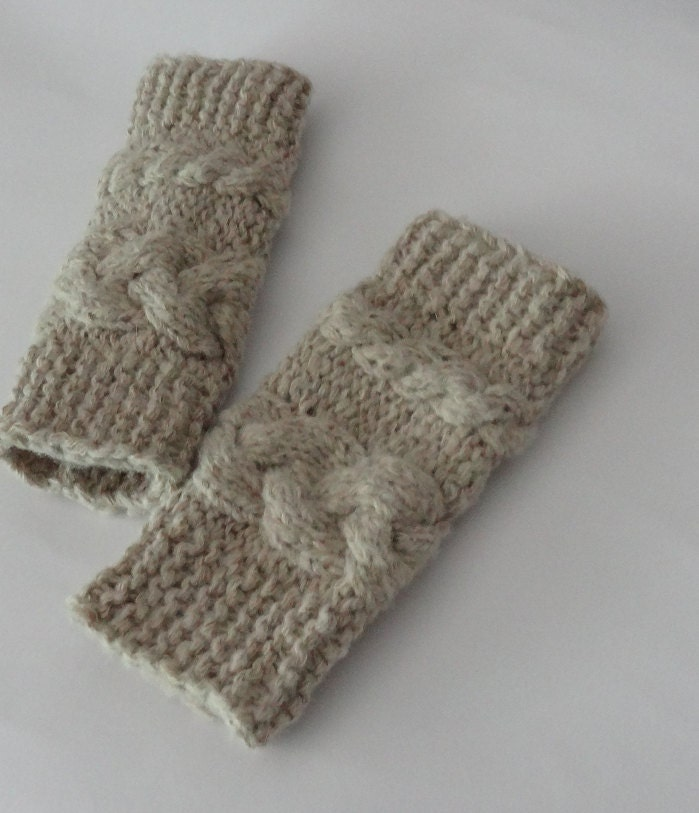 Items Similar To Knit Cable Leg Warmers / Baby Girl Leg ...