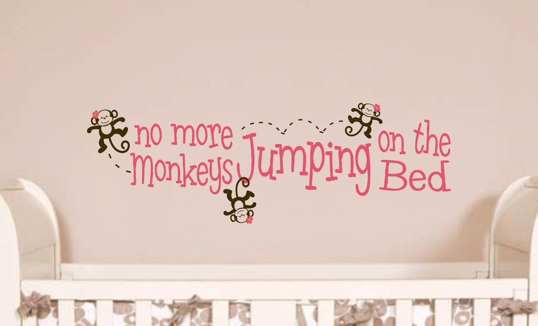 childrens decor monkey no more monkeys jumping by. Black Bedroom Furniture Sets. Home Design Ideas