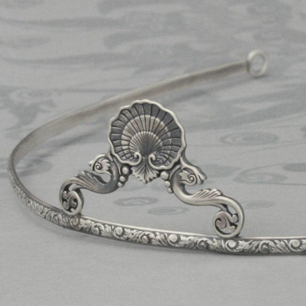 Atlantean Princess Mermaid Tiara--Solid Sterling Silver Beach Inspired Crown--Perfect for a Beach Wedding - debblazer