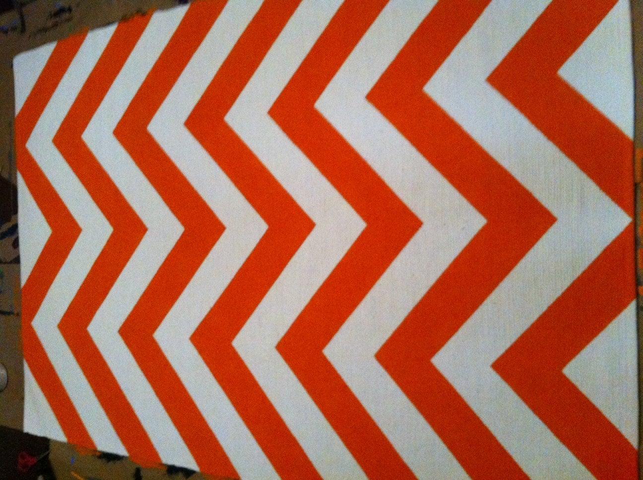 items similar to tangerine tango 5x7 chevron rug on etsy