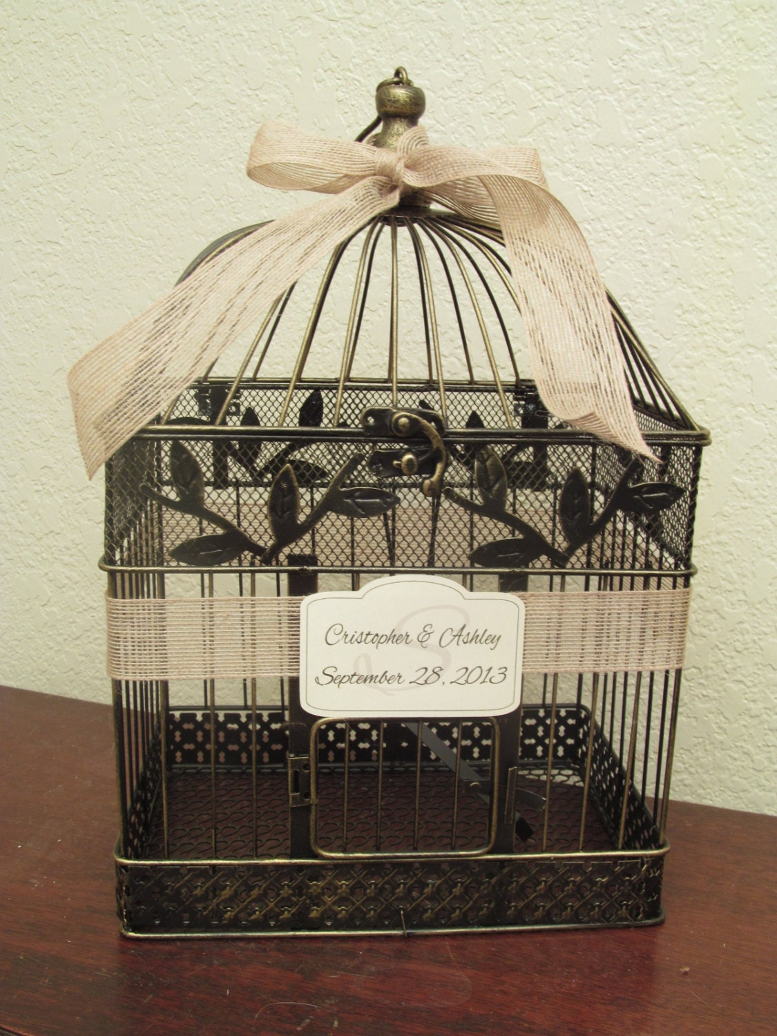 Birdcage For Wedding Gift Cards : ... Style / Wedding Card Holder Birdcage / Wedding Birdcage Cardholder