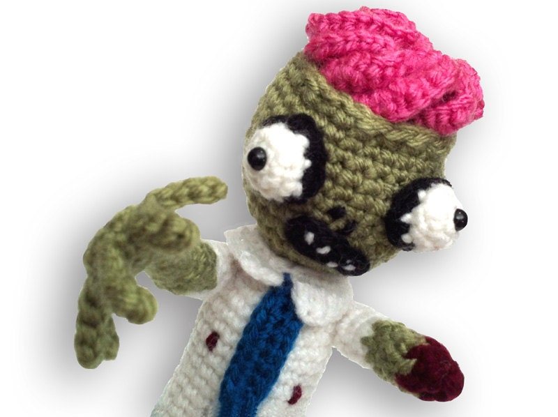 Crochet Zombie Patterns : Zombie Amigurumi PDF Crochet Pattern by offthehookdesigns ...