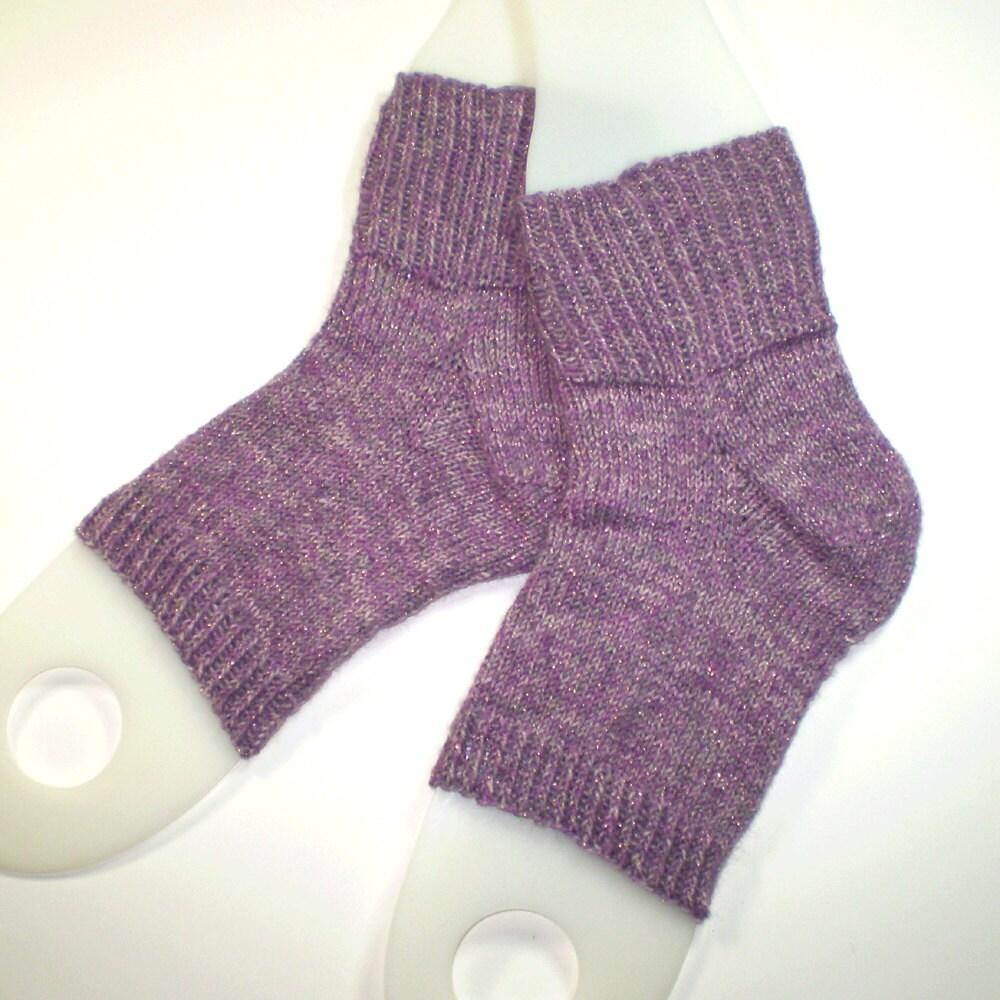 Toeless knit spa socks ... Hand knit flip flop by KritterKnitter