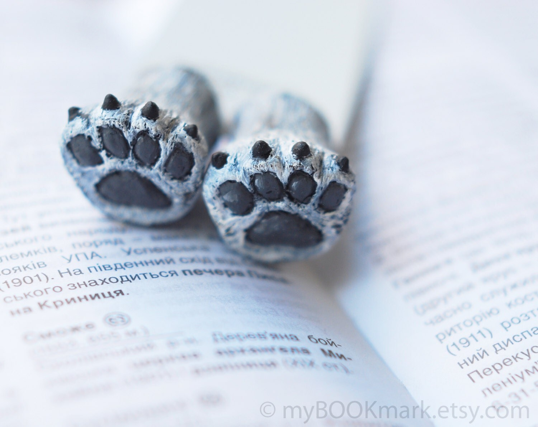 Polar bear bookmark. Bear paws in the book. Funny gift. For child, children, kids, her, all, hostess. Ohtteam, theteam