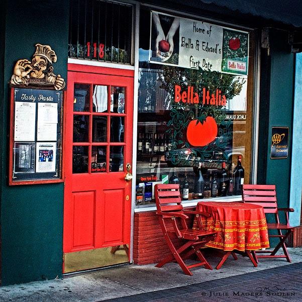 Items similar to italian cafe street photography 8x8 for Italian street kitchen