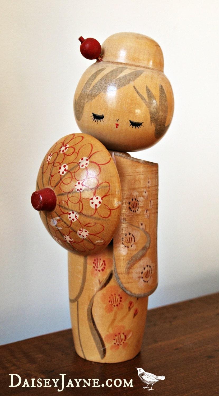Kokeshi Doll Vintage Japanese Wood Doll By Daiseyjayne On Etsy